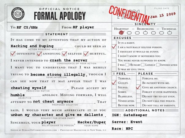 MikeT shares A Formal Apology Letter httpimagesplurkcom