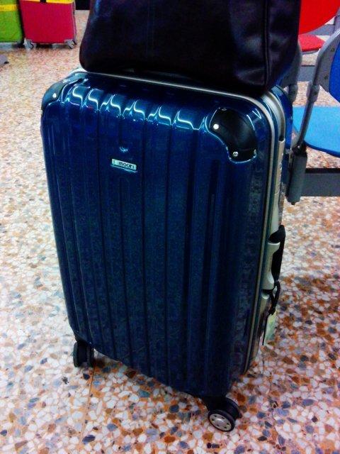 戰車行李箱孔雀藍