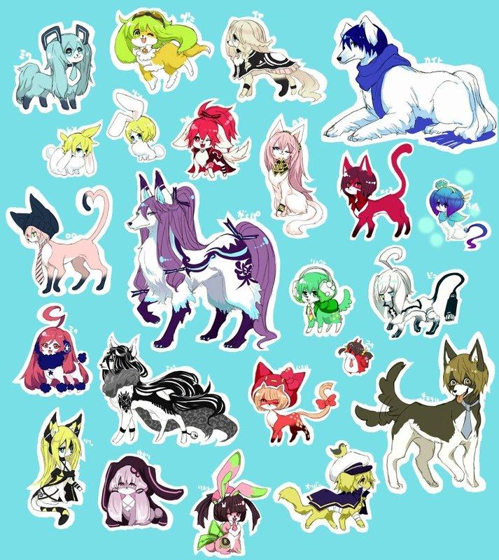 https://images.plurk.com... Vocaloid寵物化(?) 神威 你也