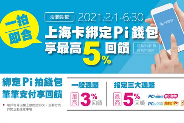 Re: [情報]  上海卡綁PI錢包5%回饋,Pchome 8.8%