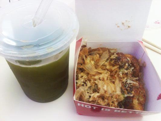 maccha + takoyaki