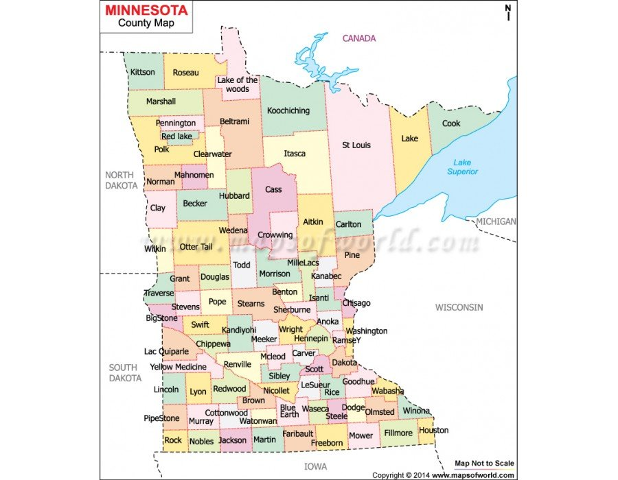 It is a photo of Obsessed Minnesota County Map Printable