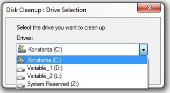 Tampilan Disk Cleanup