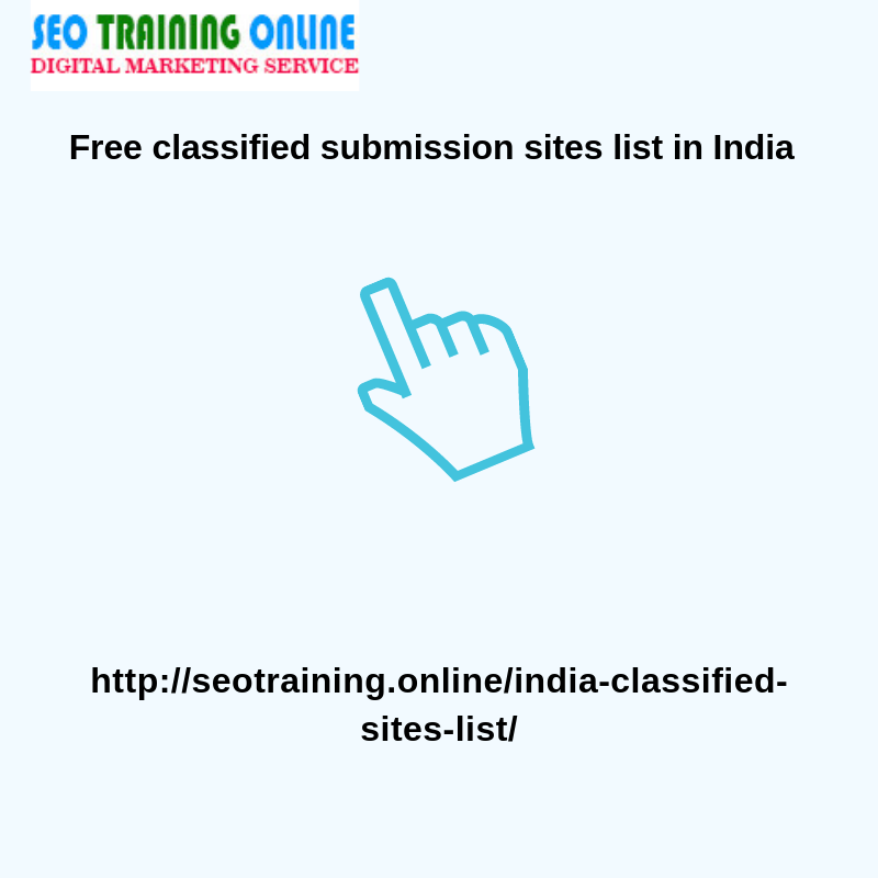 seot_123 - Free classified submission sites list in IndiaGrow your