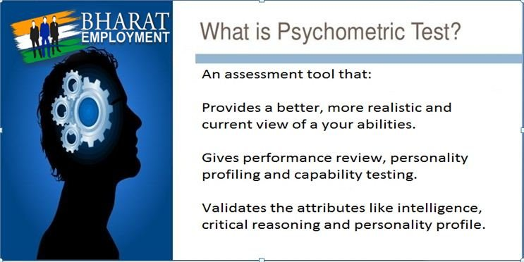 psychometric test Our psychometric career assessment are based on universally accepted career test theories on interest, aptitude, personality and motivation assessments these psychometric career assessments are further fine tuned to suit the global standards by a panel of.