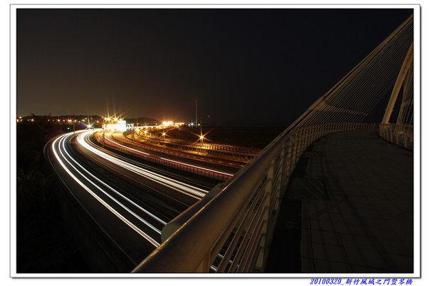 試拍車軌 - 新竹風城之門豎琴橋