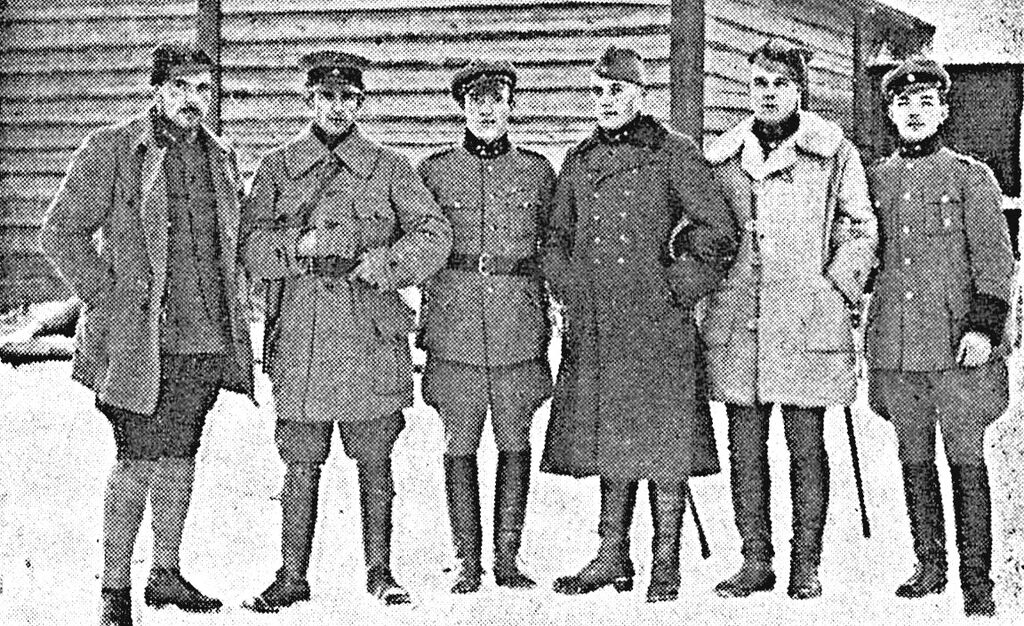 Inkerin rykmentin upseeristoa 1919.