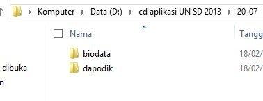 Masuk di aplikasi pendataan un, dan cari folder 20-07 (nomer ...