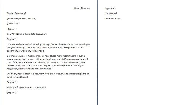 Basic resignation letter template maxwellsz