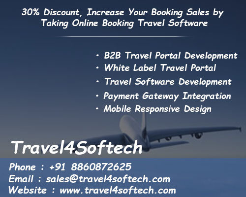 travel4softech - Get 30% Discount, Increase Your Booking