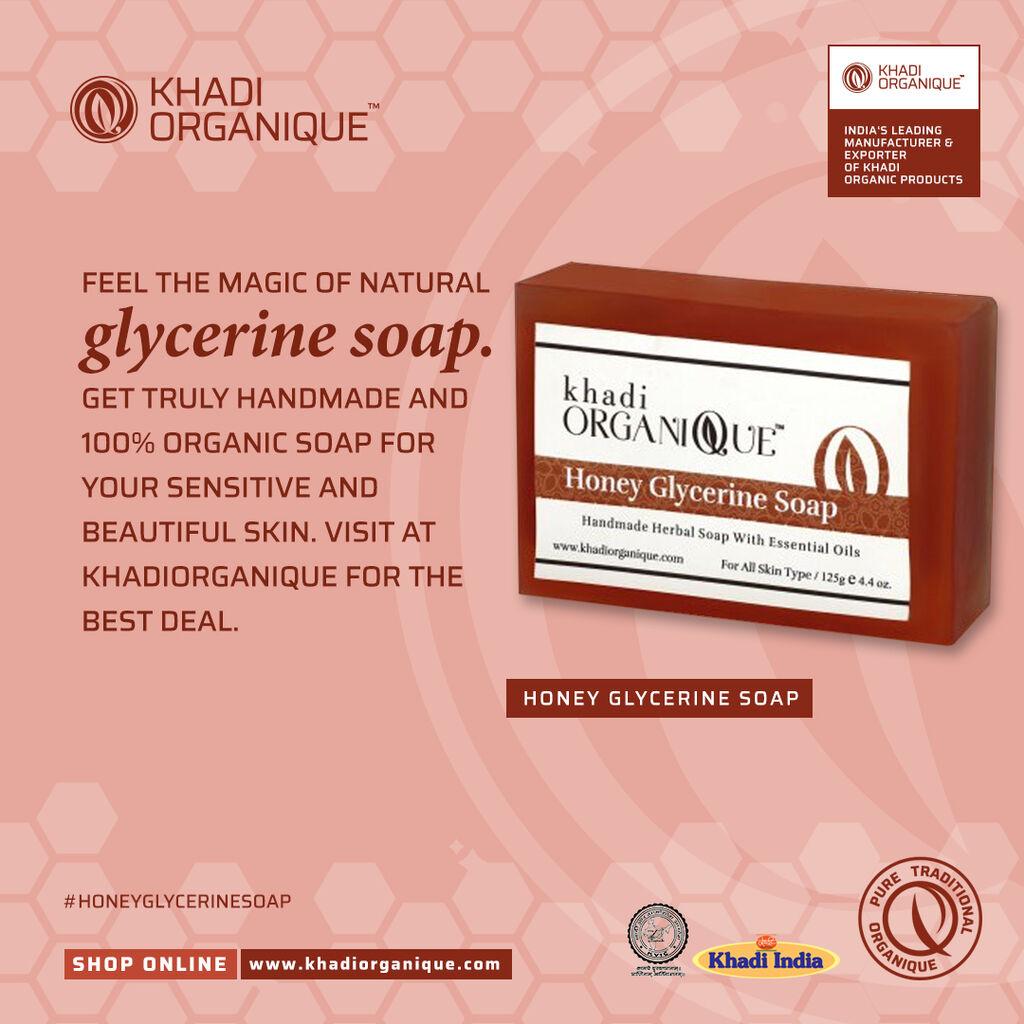 khadiorganique is Feel the magic of natural glycerine soap