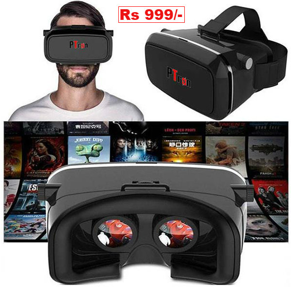 PTron Universal Xtreme 360 Virtual Reality Headset 3D Glasses VR Box LatestOne