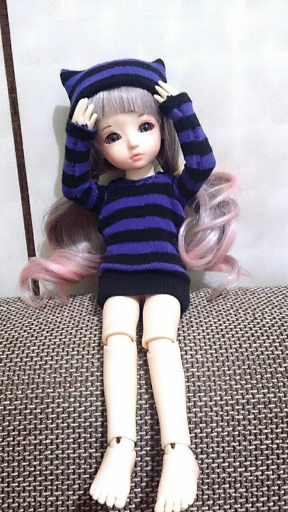 帽子完_鳳鳴分享在粉絲團看到有人用襪子做衣服,就自己試作看看,做
