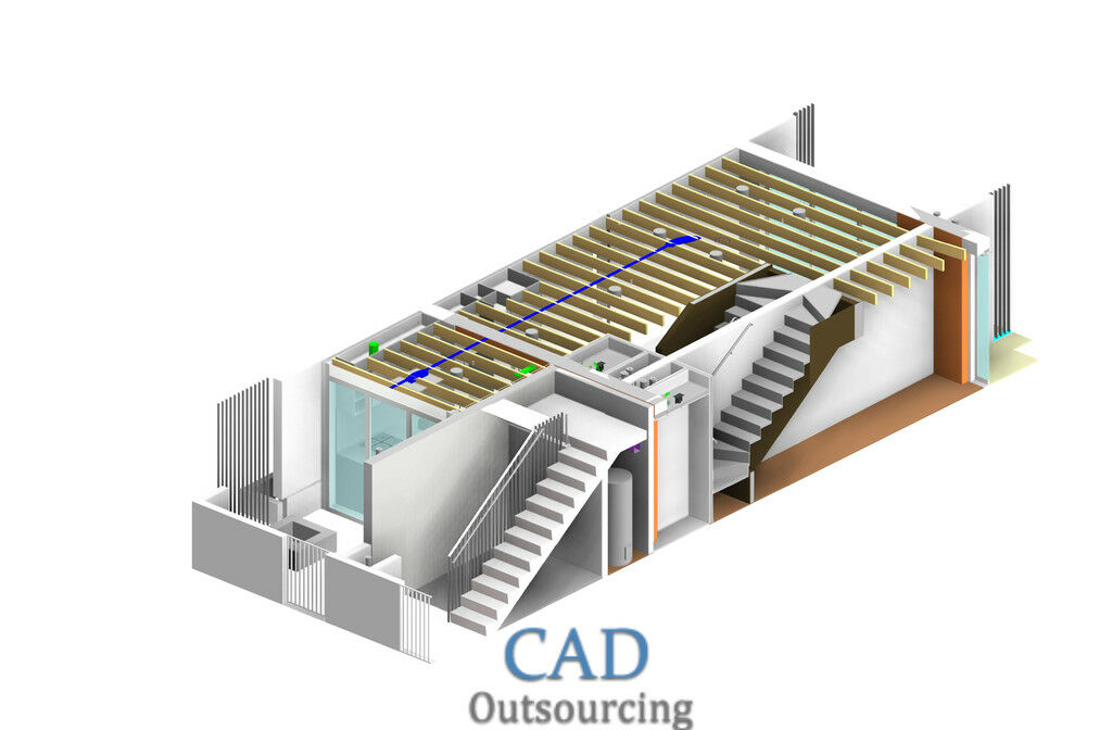 CAD Outsourcing - Precast Concrete Columns Design washington - CAD