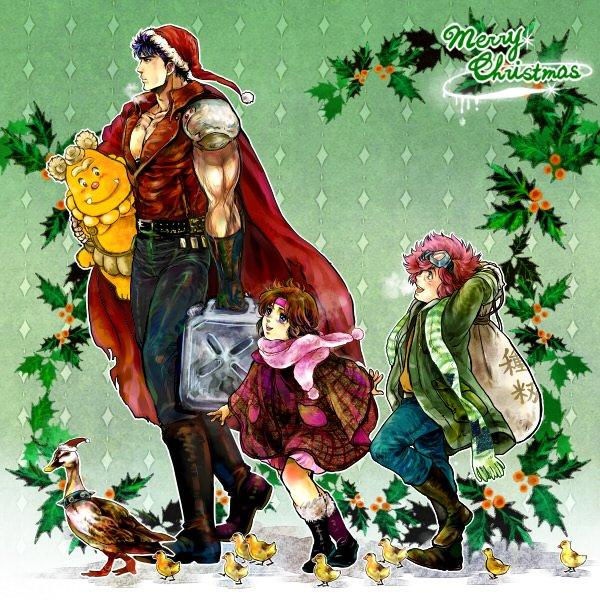 Image 11315: Bart Christmas Fist_of_the_north_star Hokuto