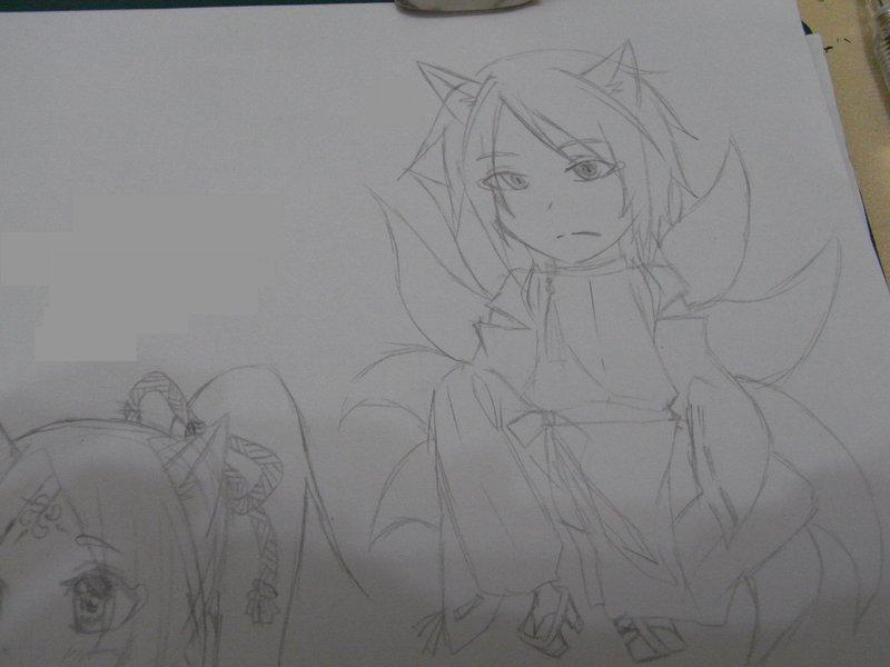 蕾丝拼花边连衣裙的手绘图