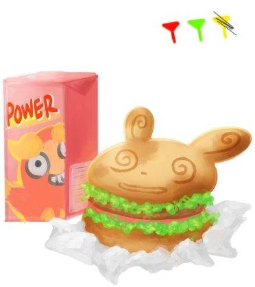 晃晃斑元氣漢堡和火紅不倒翁活力飲料(9/6/2013)