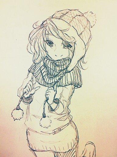 手绘冬装效果图