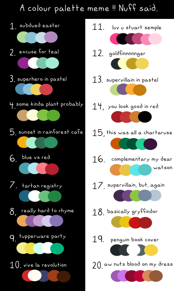 Zoe But Public Art Memes I Made A Colour Palette Meme