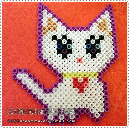 可爱猫咪拼豆图片