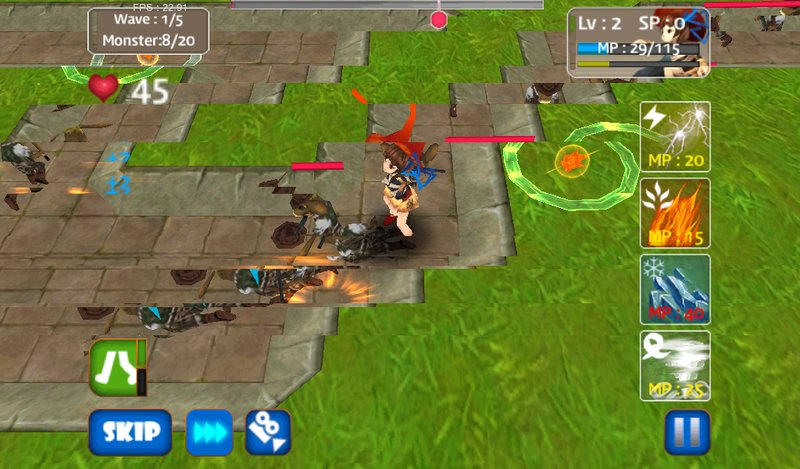 This monster defense is one of the best defense game on android based