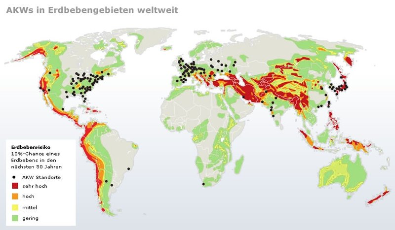 Atomkraftwerke Weltkarte