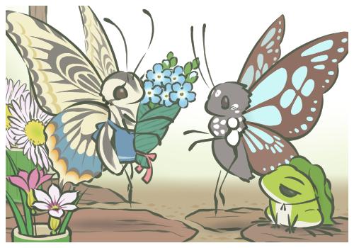治癒系手遊「旅蛙(旅かえる)」
